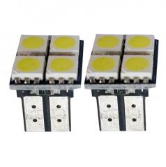 4 SMD LED žárovky T10W2 bílé - 2 ks