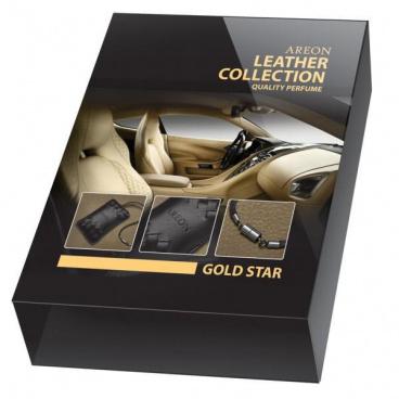 Luxusní 100% kožený voňavý balíček Gold Star