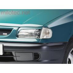 Kryty světlometů Milotec (mračítka) - ABS černý, Škoda Felicia