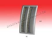 Univerzálne bočné výduchy nárazníka-funkčné s mriežkou 165 x 95mm