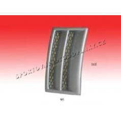 Univerzální boční výdechy nárazníku-funkční s mřížkou 165 x 95mm
