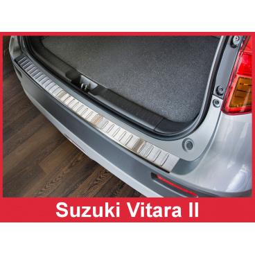 Nerez kryt- ochrana prahu zadního nárazníku Suzuki Vitara II 2015+