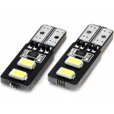 Žárovky 4 SMD 2835 LED T10 (W5W) 12V bílá CAN-BUS krátká