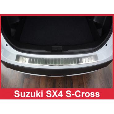 Nerez kryt- ochrana prahu zadního nárazníku Suzuki SX4 S-Cross 2012-16