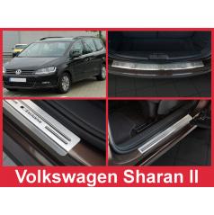 Nerez kryt- sestava-ochrana prahu zadního nárazníku+ochranné lišty prahu dveří VW Sharan II 2010-16