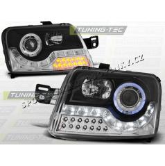 Fiat Panda 03-predné číra svetla Daylight LED black (LPFI16)