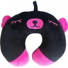 Cestovní polštářek medvídek černo-fialový