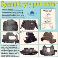 Audi kryt motora spodný