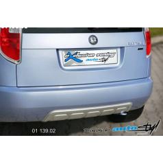 Škoda Roomster - zadní difusor lyžina - stříbrná lyžina