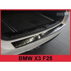 Nerez kryt- černá ochrana prahu zadního nárazníku BMW X3 F25 2014+