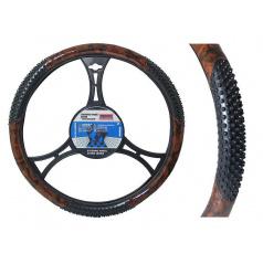 Potah na volant s masážními body Wood 37-39 cm