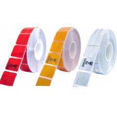 Samolepící páska reflexní dělená 1m x 5cm žlutá, bílá, červená
