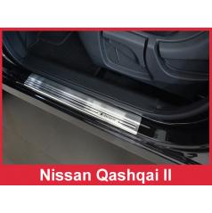 Nerez ochranné lišty prahu dveří 4ks Nissan Qashqai 2 2014-17