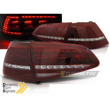 VW Golf 7 2013- zadní lampy red white LED SEQ R Look (LDVWE3)