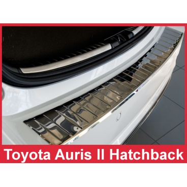Nerez kryt- ochrana prahu zadního nárazníku Toyota Auris II Htb. 2015+