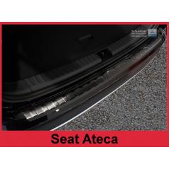 Nerez kryt- černá ochrana prahu zadního nárazníku Seat Ateca 2015-16
