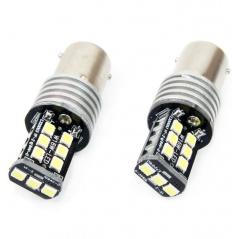 Žárovky BA15S - 15 SMD LED bílé 12/24V CANBUS (2 ks)