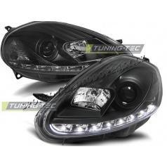 Fiat Grande Punto 2008-09 predné číre svetlá Daylight black (LPFI26)