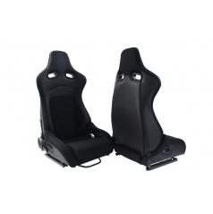 Sportovní polohovatelná sedačka A1 RACING FLURIO černá