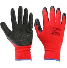 Bezešvé rukavice pro mechaniky  (nylon/latex)