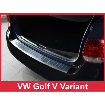 Nerez kryt- ochrana prahu zadního nárazníku Volkswagen Golf V kombi 2007-09