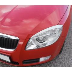 Kryty světlometů (mračítka), stříbrné matné - Škoda Fabia II. Lim./Combi/Scout 2007-2010, Škoda Roomster/Scout 2006-2010