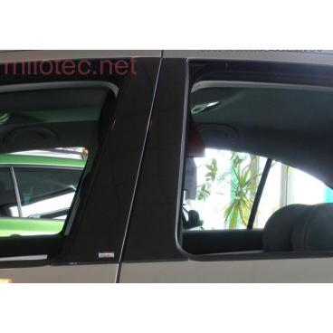Kryty dveřních sloupků Milotec - ABS černá metalíza, Škoda Octavia  I sedan