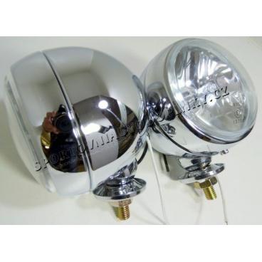 Přídavná dálková světla kovová RETRO