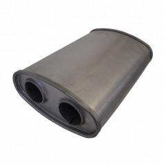Univerzální ocelový výfukový tlumič š225 x d330 x v108mm ( 55 mm vstup)