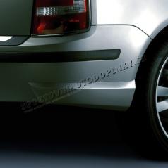 BODY-KIT zadní rozšíření nárazníku, ABS-černý, Škoda Fabia Combi/Sedan Facelift