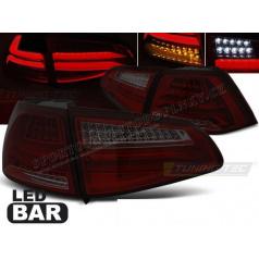 VW Golf 7 2013- zadní lampy red smoke LED BAR (LDVWG5)