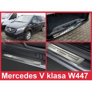 Nerez kryt- sestava-ochrana prahu zadního nárazníku+ochranné lišty prahu dveří Mercedes W447 V 2014-16