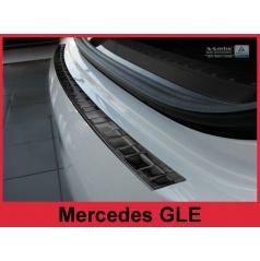 Nerez kryt-černá ochrana prahu zadního nárazníku Mercedes GLE 2015+