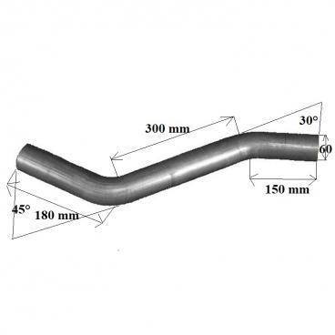 Univerzální výfukové ocelové potrubí 60 mm