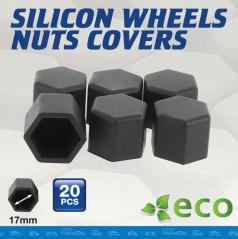 Silikonové kryty šroubů 20 ks grafit šedé (vnitřní průměr 17 mm)