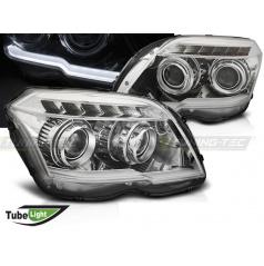 Mercedes GLK X204 06.2008-08.2012 přední světla Tube Light chrome