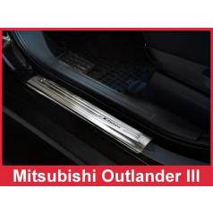 Nerez ochranné lišty prahu dveří 4ks Mitsubishi Outlander 3 2012-16