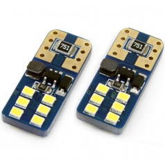 Žárovka 12 SMD UltraBright LED T10 (W5W) 12V/24V bílá CAN-BUS