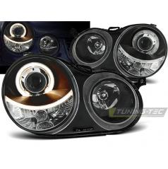 VW Polo 9N 11.01-04.05 predné číre svetlá Angel Eyes black (LPVW59)