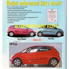 Ochranné lišty dverí (F-13), Ford Ka, 1996-2008, 3 dver.