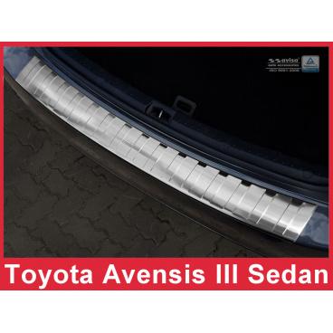Nerez kryt- ochrana prahu zadního nárazníku Toyota Avensis III sedan 2012-15