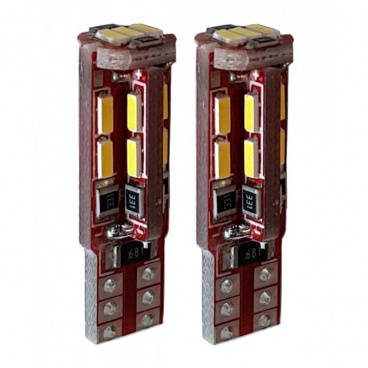 Žárovka 19 LED T10W2,1x9,5D bílá 12V CAN-BUS