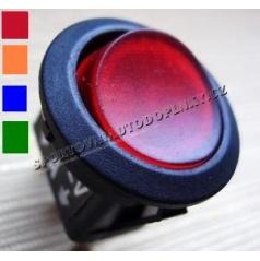 Vypínač 16A 12V RED, BLUE, ORANGE, GREEN s podsvícením  průměr 2 cm