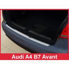 Nerez kryt- ochrana prahu zadního nárazníku Audi A4 B7 Combi 2004-08