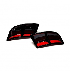 Atrapy výfuku Turbo design RS230 Glossy black - Glowing Red - Škoda Karoq