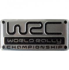 Plastický znak WRC alu provedení s podlepením 55X25 mm