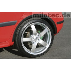 Lemy blatníků, ABS černý s rastrem, Škoda Fabia II Limousine