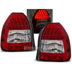 Honda Civic 09.95-02.01 3d zadní lampy red white (LDHO02)