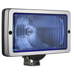 Světlo hranaté dálkové 241 x 135 chrom/blue