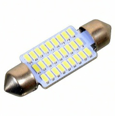 27 LED žárovka sulfit bílá 38 mm 1 ks